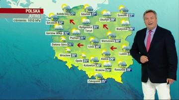 Prognoza pogody - piątek, 7 sierpnia - popołudnie